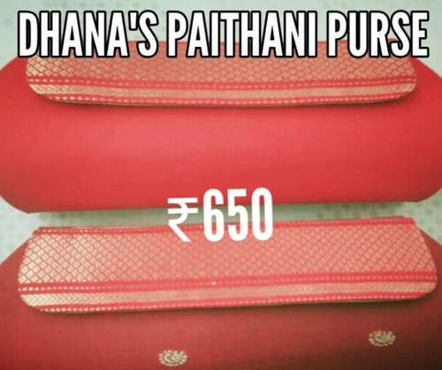 Multi Color Paithani Zari Clutch