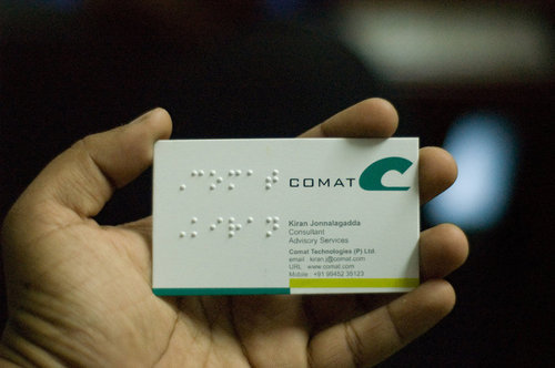 Braille Visiting Card