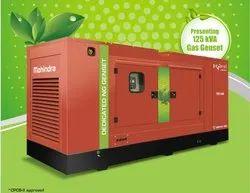 50 Gas Generator - 125 KVA Cng Gas Genset Mahindra Power Silent Dg Set, Automation Grade: AUTOMATIC OPTIONAL