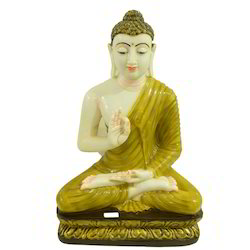Sparsh Artistry Multicolor Buddha Blessing Polymarble Statue