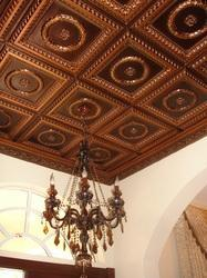 Leather Tiles for Ceiling