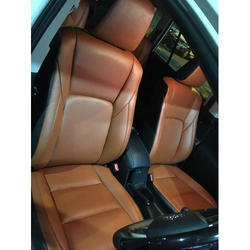Brown Leather Four Wheeler Car Seat Cover