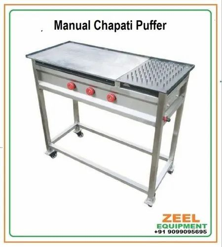 Manual Chapati Puffer Machine