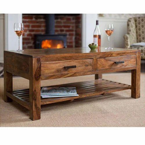 Sheesham Wood Storage Coffee Table Size 100 X 60 X 45 Cm