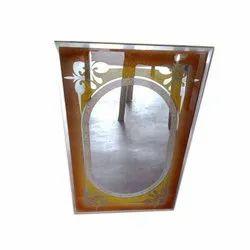 Mahendra Glass Rectangular Printed Wall Mirror, For Hotel