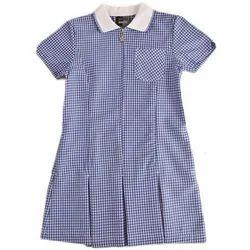 Girls Half Sleeves School Uniform Frock