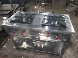 SK KITCHEN Steel Commercial Gas Burner, 2, Size: 48