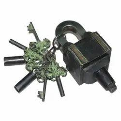 Brass Garden Lock Functional Square Tricky Lock Puzzle Padlock