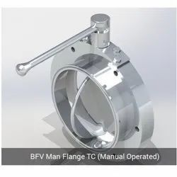 BFV Man Flange TC - Manual Operated
