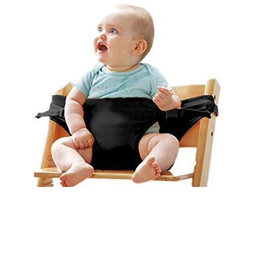 Kidsafe Black Kids Portable Baby Feeding Chair Belt Age Group 5