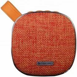 Round orange Zebronics Potable Bluetooth Speaker, 3 Watt, Size: 86 * 87 * 42.50