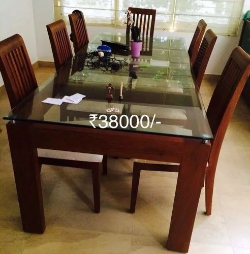 Lr Modern Teak Wood Dining Set Size Dimension 16 Size 5 X3 Rs 38000 Set Id 20825401397