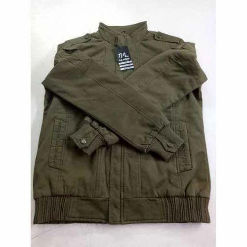 70d76c95c39 Mens Cotton Full Sleeves Green Designer Winter Jacket