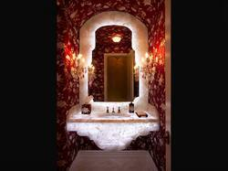 White Quartz Sink Powder Room