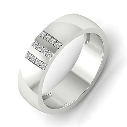 01190546cf43 Zevrr Silver Crystal Platinum Plated Mens Ring