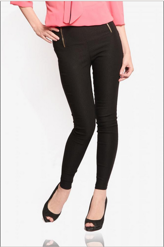 cefe7201ef Plain Black Miss Chase Retro High Waist Jeggings Color, Rs 1079 ...