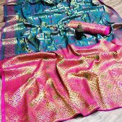 5.5 m (separate blouse piece) Festive Wear Indian Banarasi Silk Saree