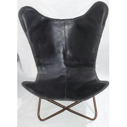 Leather Black Butterfly Chair