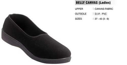 Black Women Ladies Canvas Shoes, Rs 120