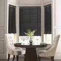 Modern Black Wood Plain Horizontal Blind, Thickness: 5 Mm