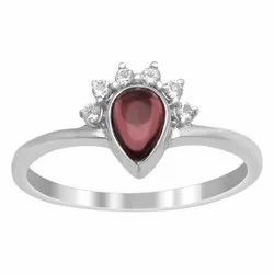 Princess Crown Design Pink Tourmaline Solitaire Art Deco Ring Gift For Her