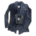 Slim Dots Faded Stylish Denim Shrug
