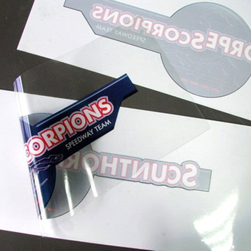 Transparent plastic stickers packaging type packet