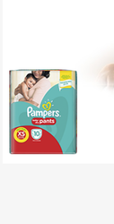 Cotton Pant Diapers Pampers Baby Diaper XS10 Gentle Touch, Size: Xtra Small, Age Group: Newly Born