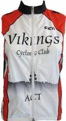 Polyester White Cycling Sleeveless Jacket, Size: XS