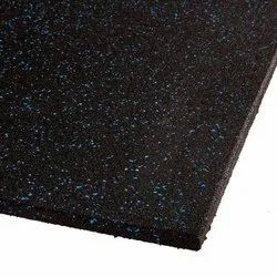 Black Rubber Tile, Thickness: 15-20 mm