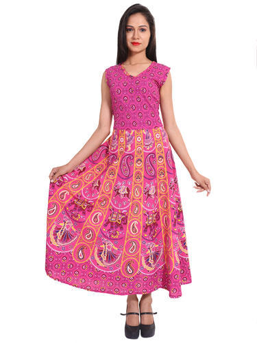 bda306990c2 Cotton Jaipuri Printed Dress Without Jacket at Rs 240  piece ...