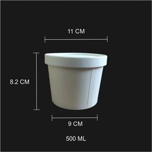 500 Ml Paper Tub/Bowl With Paper Lid