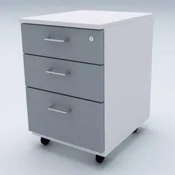 Grey Pedestal Cabinet