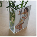Acrylic Pot with Photo Frame