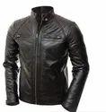 Casual Wear Leo Torresi Stylish Genuine Leather Motorcycle Jacket For Men- Black, Size: Large