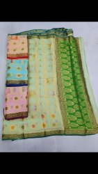 Party Wear Fancy Saree, 6 m (with blouse piece)