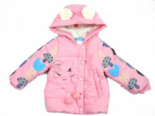 Woolen Printed, Kids Jackets, Size: M
