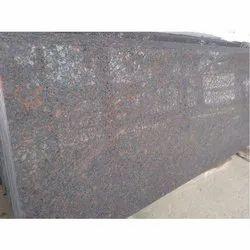 Tan Brown Lapotra Finish Granite Slab