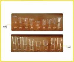 Packedge Transparent PP Disposable plastic Glass, Capacity: 50-600ml, Size: 100-300ml