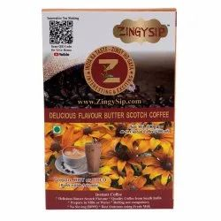 Zingysip Delicious Butterscotch Coffee ( 100 Gm.) - Serve Hot Or Cold