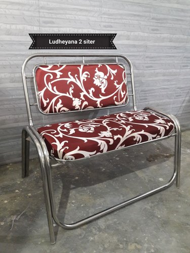 2 Seater Stainless Steel Chair