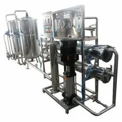 Borewell Water 1000 L/hour Mineral Water Plant, PET Blowing Machine, ISI