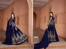 Embroidered Semi-Stiched Salwar Suit