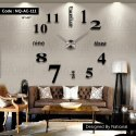 Acrylic Wall Clock In Drawing Room