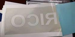 White Vinyl Stickers, Size: Upto 100 X 100 cm