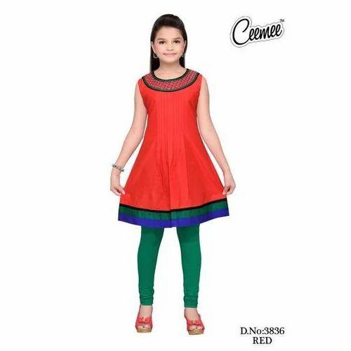 51cfa852f0 Cotton Red Kids Kurti, Rs 150 /piece, A B Enterprises | ID: 20368017491