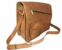Designer Flap Closure Leather Messenger Bag