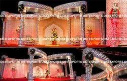 Latest Triple Pillars Butterfly Wedding Mandap, Model Name/Number: PL11012