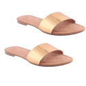 Beige Pu And Rubber Ladies Slippers, Size: 5-8
