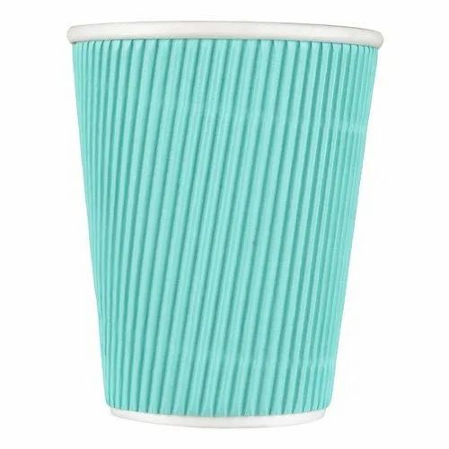 Sky Blue Plain Designer Disposable Paper Cup, For Event and Party Supplies, Capacity: 250 ML